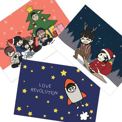 [연애혁명] 연혁 [기프트카드] 엽서 3종  디자인 묶음판매